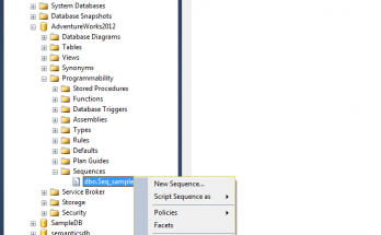 Sequence objects feature in SQL Server