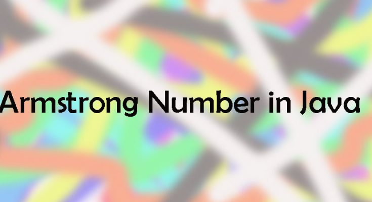 Armstrong-number-in-java